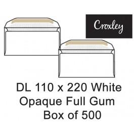 Croxley Envelopes Dl 110x220 Full Gum Opaque - Enb92cw