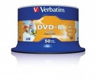 Verbatim DVD-R Printable 16x Speed 50 Spindle