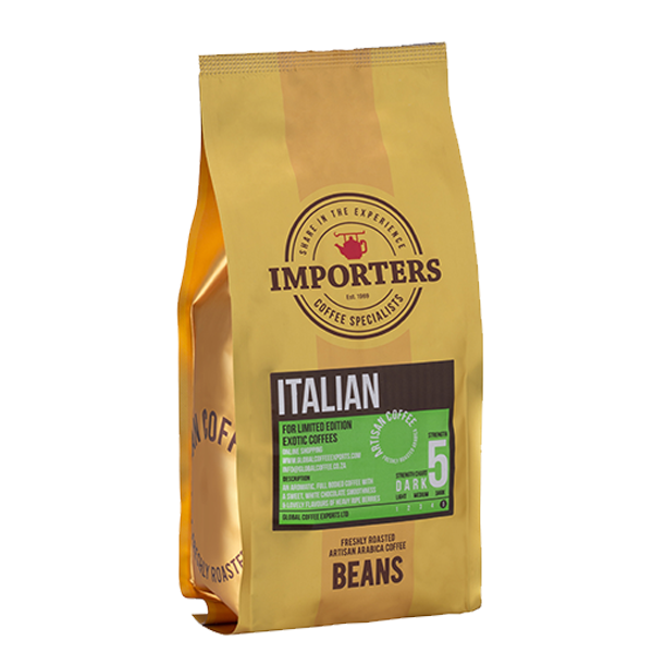 Importers Italian Espresso Coffee Beans 1kg