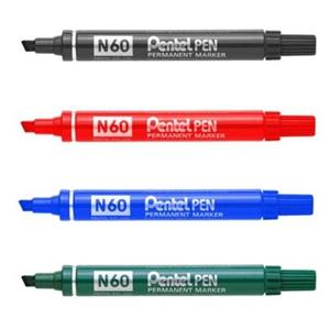 Pentel N60 Chisel Marker Red