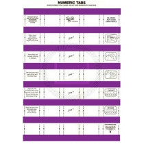 Tidy Files Numeric Labels - Dark Purple