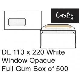 Croxley Envelopes Dl 110x220 Window Full Gum - Enb92ww