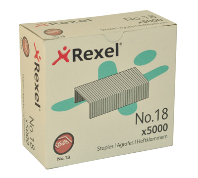 Rexel No 18 Staples 5000's(40 Sheet Capacity)