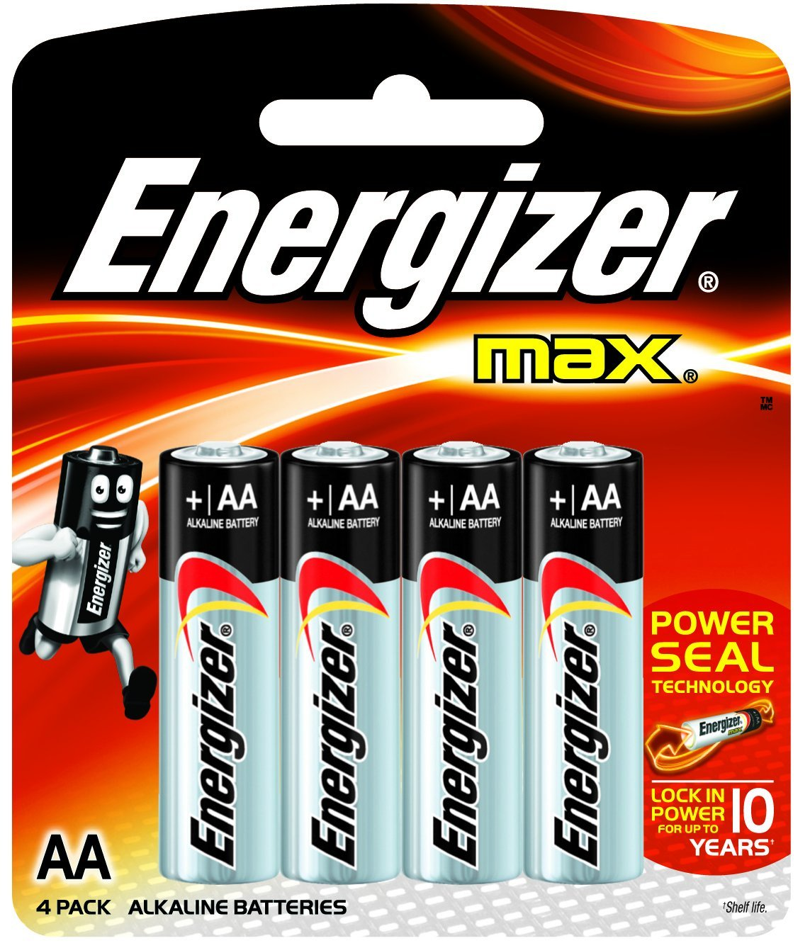 Energiser AA Batteries Non Rechargeable 4pack