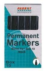 Parrot Marker Permanent Bullet Box 10 Black