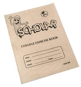 College Exercise Book A4 72PG Unruled