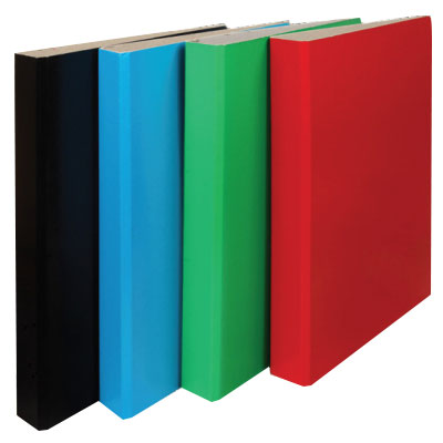 RINGBINDER A4 CASED BOARD 2R 25mm BLUE