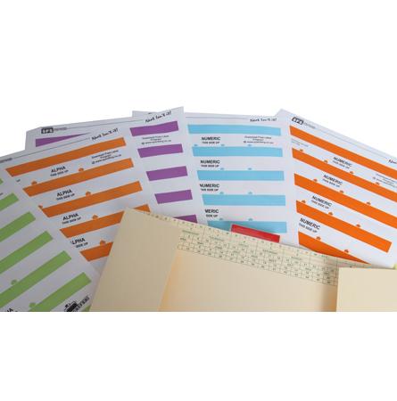 SFS 55mm Alpha labels Dark Green - 6 Sheets/144 Tabs