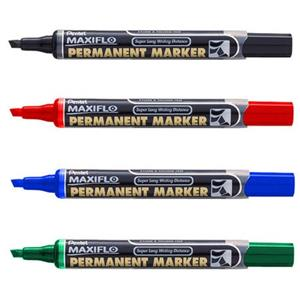 Pentel NLF60 Maxiflo Chisel Black Marker
