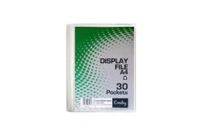 Croxley 30 Pocket Hard Cover Display File