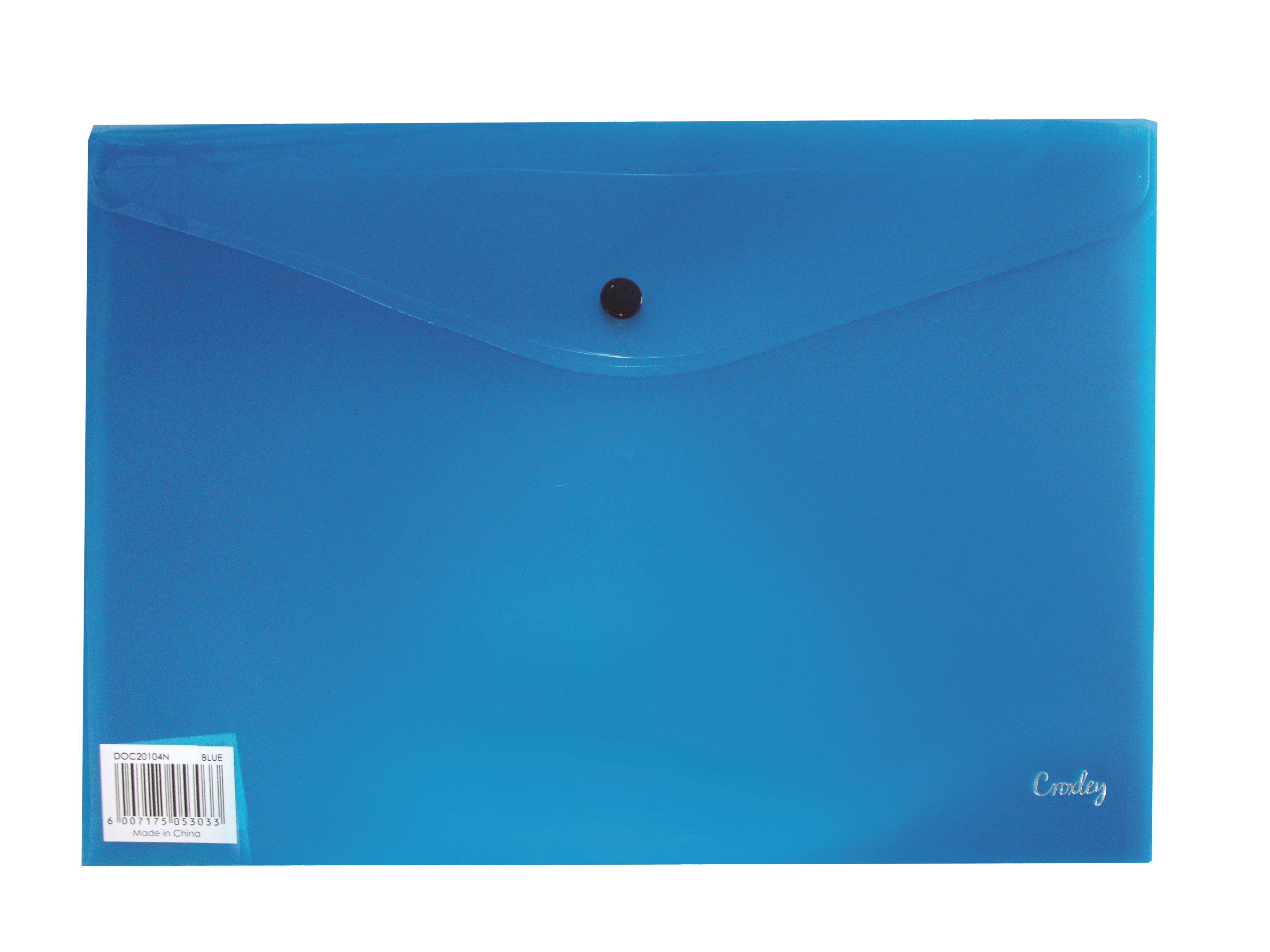 Croxley A4 Envelope with Button - Blue PK 12