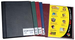 Exec Flip File 30 Page Navy Blue