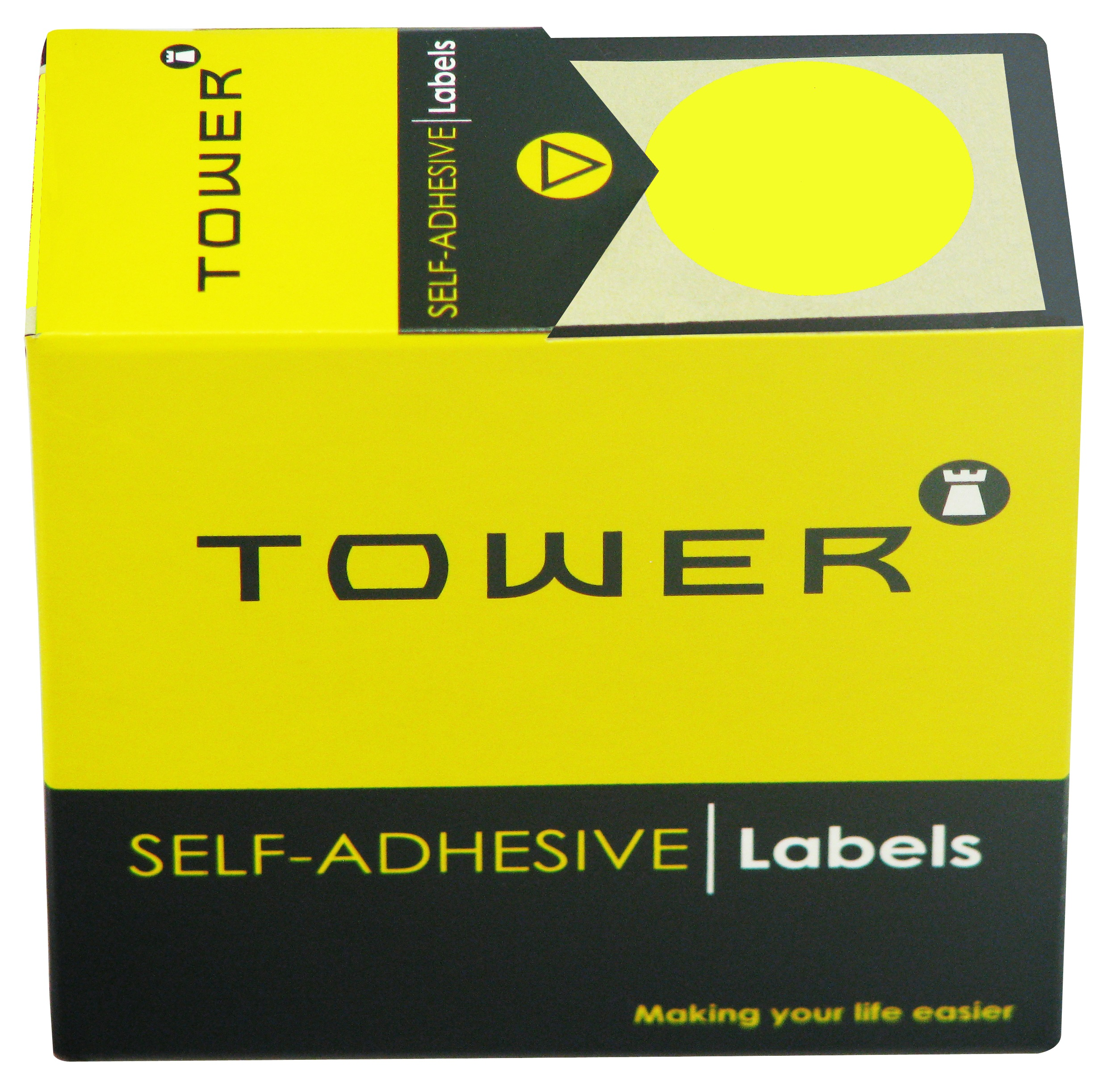 Tower C32 Label Flu Lime
