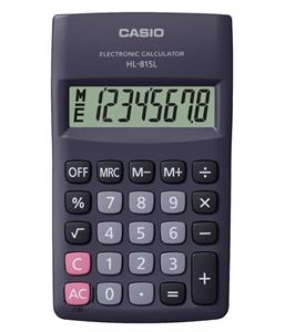 Casio HL-815L-BK-S 8 Digit Pocket Calculator