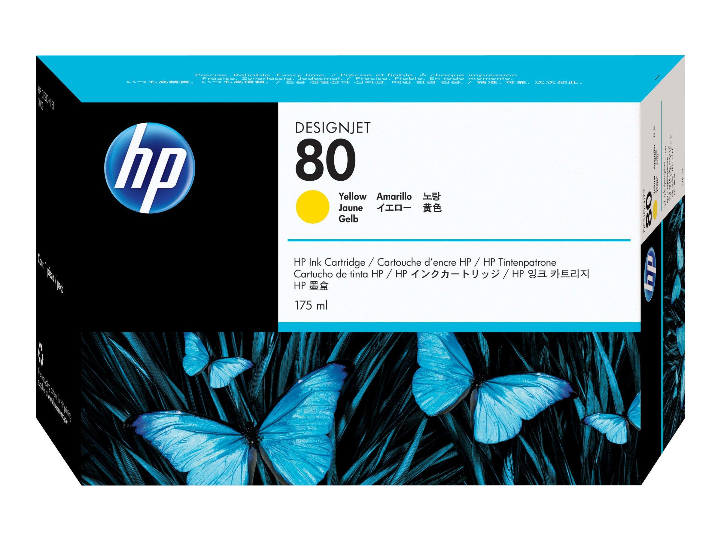 HP #80 YELLOW INK CARTRIDGE 175ML