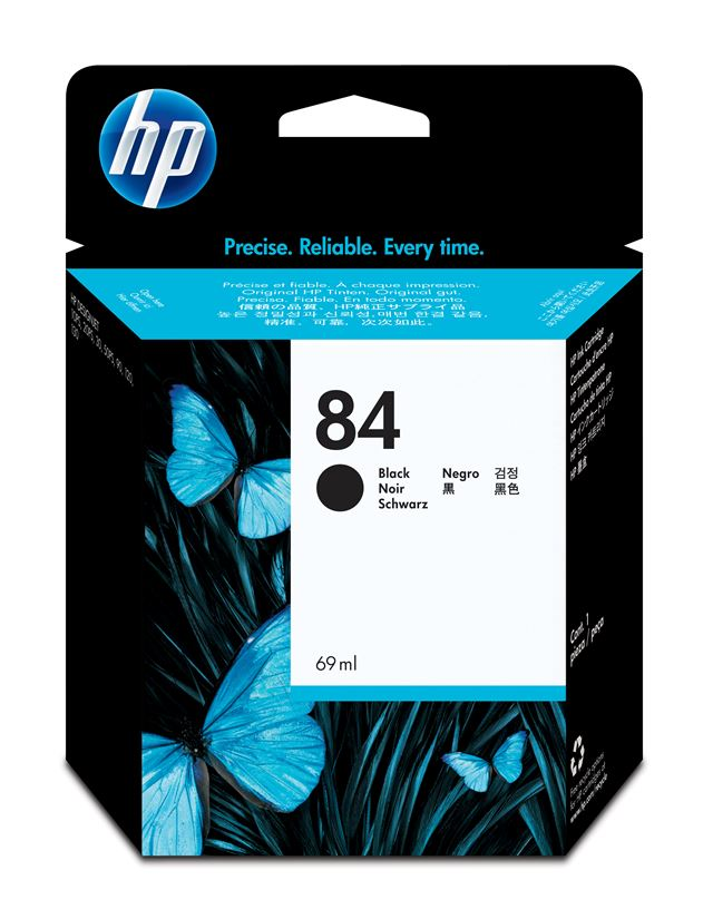 HP  84 BLACK INK CARTRIDGE FOR DESIGNJET 120 (69ML)