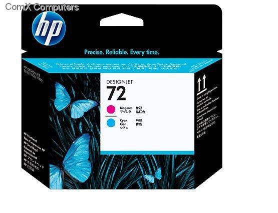 HP 72 MAGENTA / CYAN PRINTHEAD FOR USE IN SELECTED HP PRINTERS
