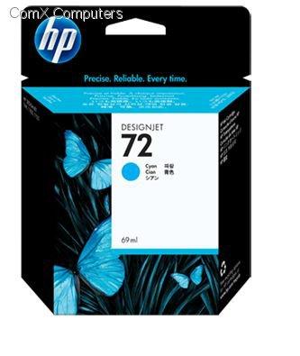 HP 72 69ML CYAN INK CARTRIDGE FOR USE IN SELECTED HP PRINTERS.