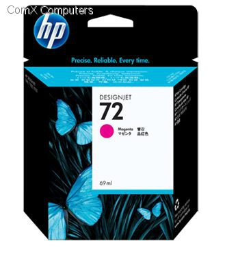 HP 72 69ML MAGENTA INK CARTRIDGE FOR USE IN SELECTED HP PRINTERS.