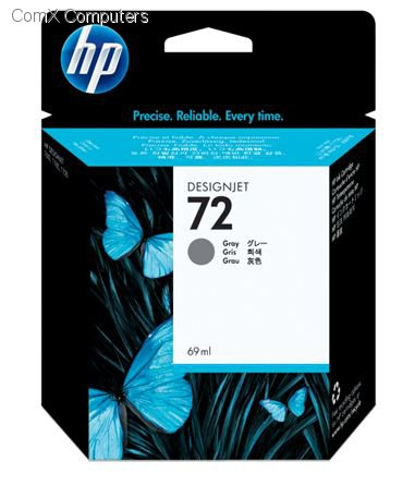 HP 72 69ML GREY INK CARTRIDGE FOR USE IN SELECTED HP PRINTERS.