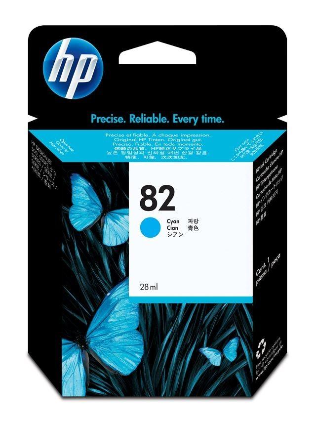 HP  82 CYAN INK CARTRIDGE FOR DESIGNJET 510 (28ML)