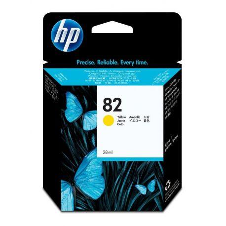 HP  82 YELLOW INK CARTRIDGE FOR DESIGNJET 510  (28ML)