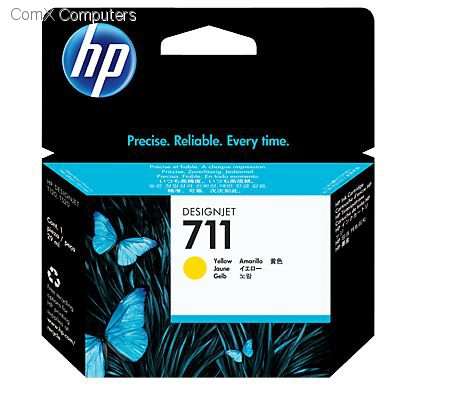 HP 711 YELLOW INK CARTRIDGE FOR DESIGNJET T120 SERIES (29ML)