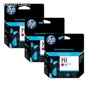 HP 711 3 PACK MAGENTA INK CARTRIDGES FOR DESIGNJET T120  (29ML)