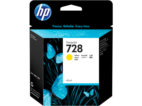HP 728 YELLOW INK CARTRIDGE FOR T7 830 ( 40ML )
