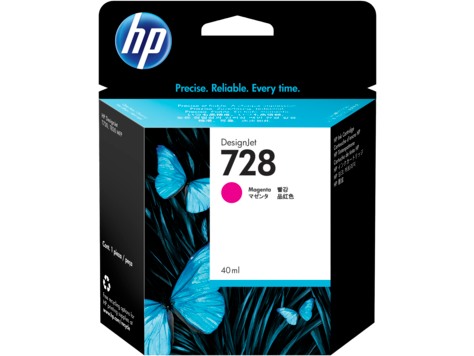 HP 728 MAGENTA INK CARTRIDGE FOR T7 830 ( 40ML )