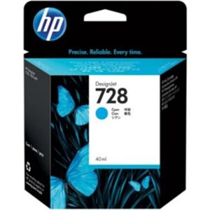 HP 728 CYAN INK CARTRIDGE FOR T7 830 ( 40ML )