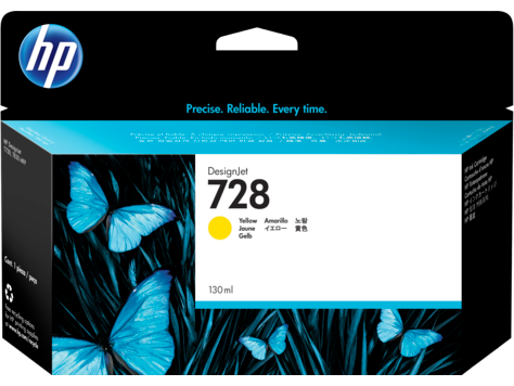 HP 728 YELLOW INK CARTRIDGE FOR T7 830 ( 130ML )