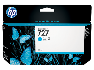 HP 727 CYAN DESIGNJET INK CARTRIGE FOR T920 AND T1500 (300ML)