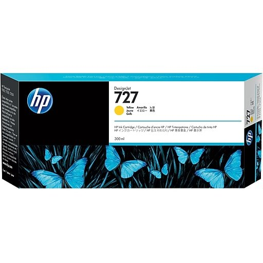 HP 727 YELLOW DESIGNJET INK CARTRIGE FOR T920 AND T1500 (300ML)