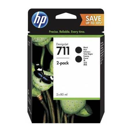 HP 711 80ML BLACK INK 2 PACK