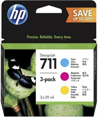 HP 711 29 ML CYAN/MAGENTA/YELLOW TRI-PACK