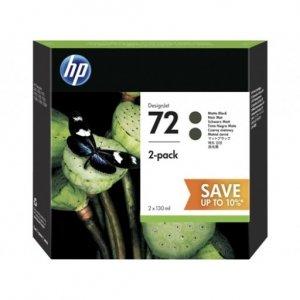HP 72 130ML BLACK INK 2 PACK