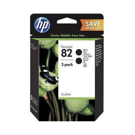 HP 82 69ML BLACK INK 2 PACK