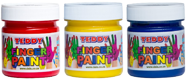 Teddy Finger Paint 100ml Colours TED-FP-100ML