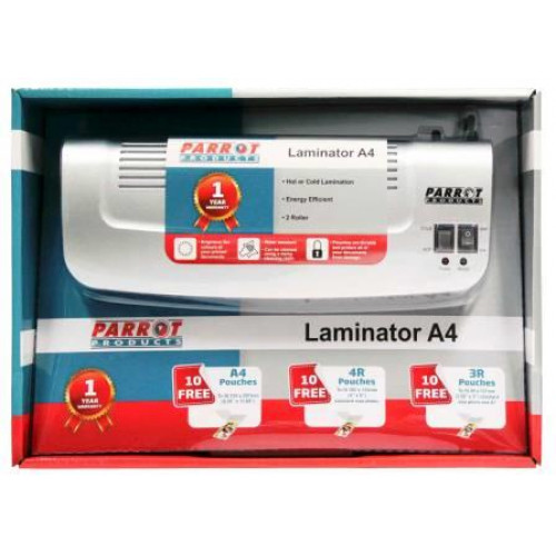 Parrot Laminating Machine A4 2 Roller Retail Pack