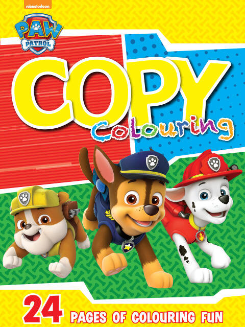 Paw Patrol - 24pg Copy Colour Book