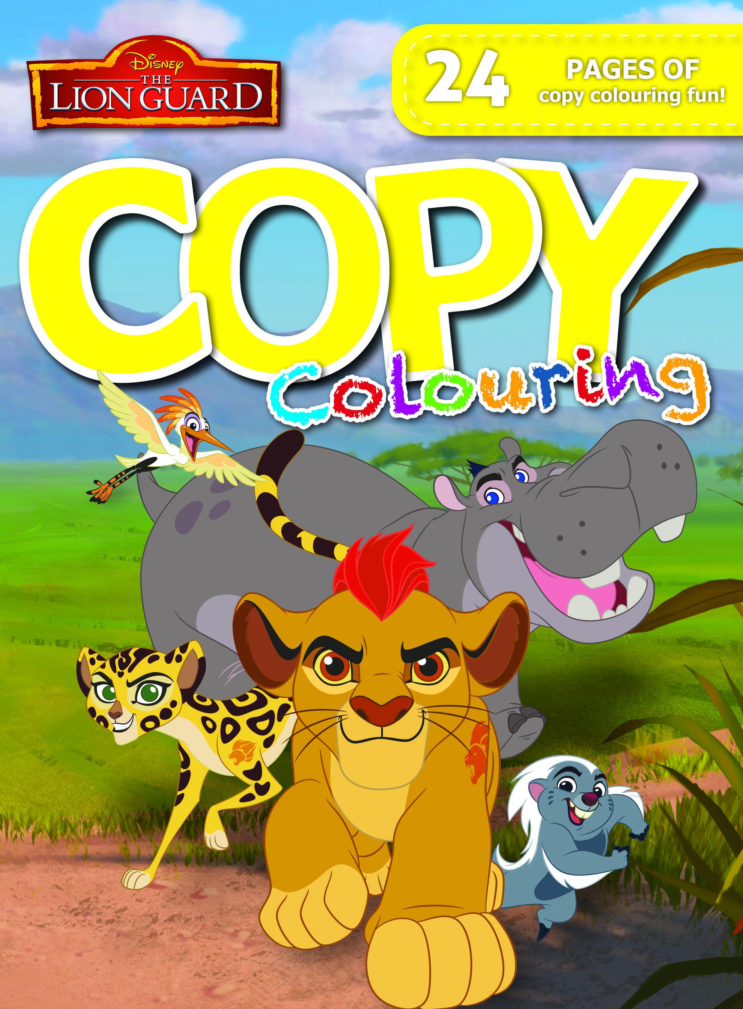 Disney Lion Guard - 24pg Copy Colour Book