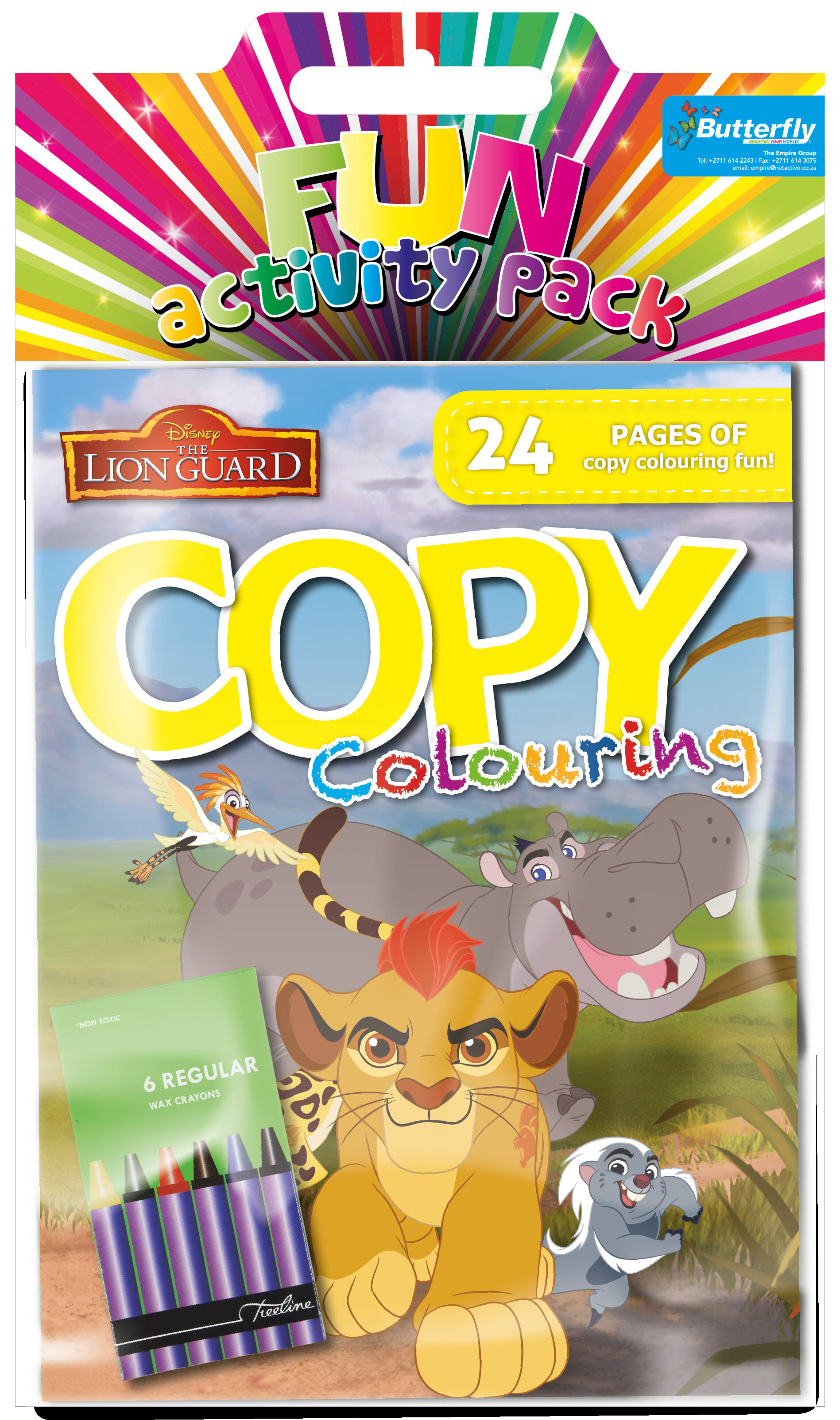 Disney Lion Guard - Hanging Colouring Pack