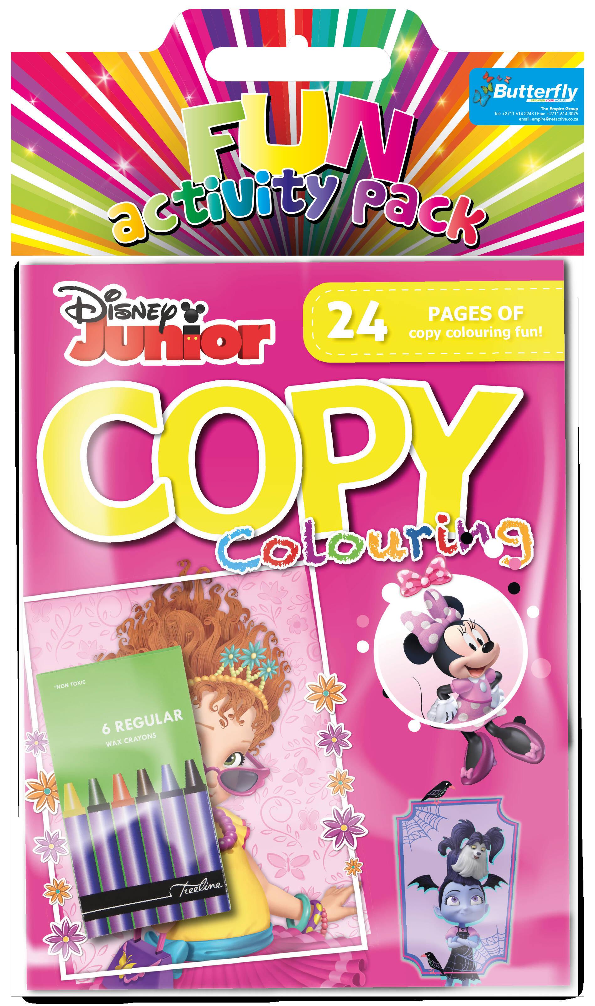 Disney Junior (Pink) - Hanging Colouring Pack