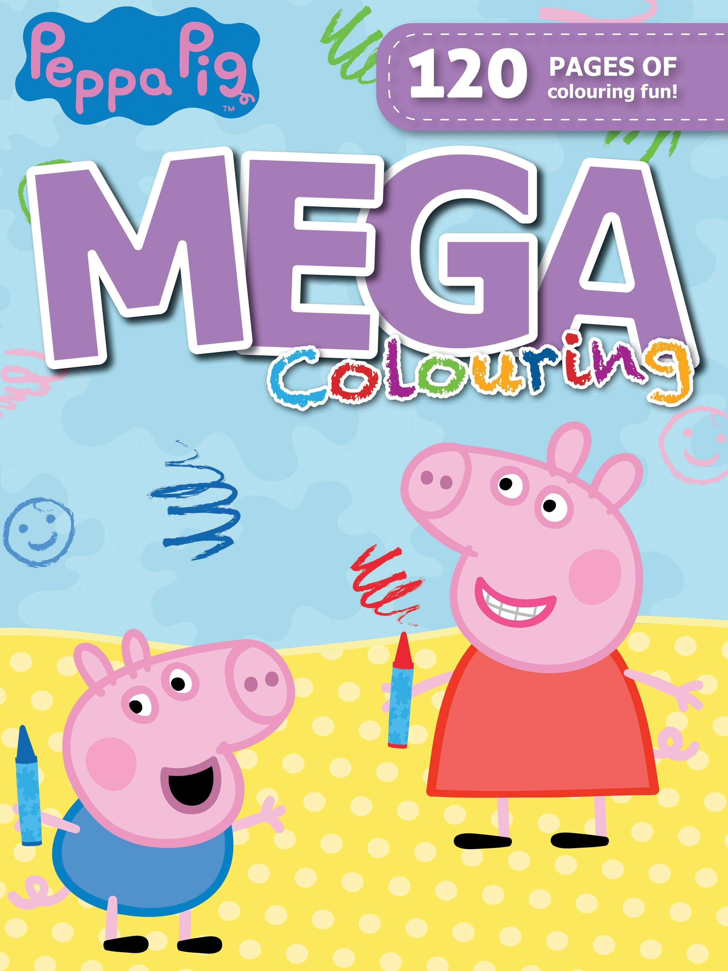 Peppa Pig - 120pg Mega Colour & Activity Book