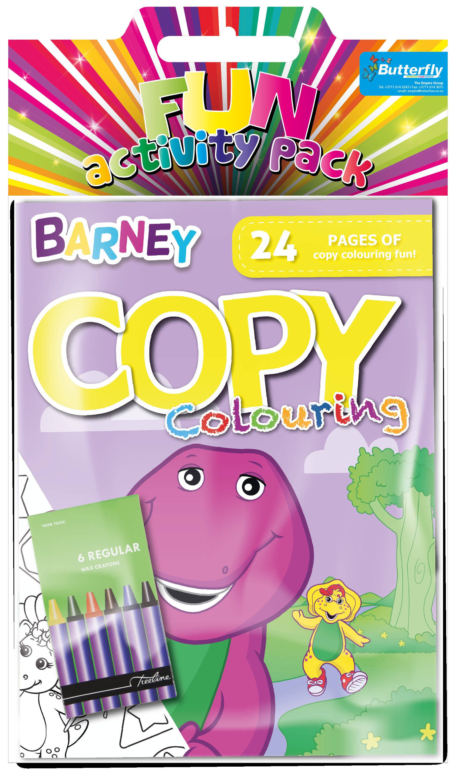 Barney - Hanging Colouring Pack