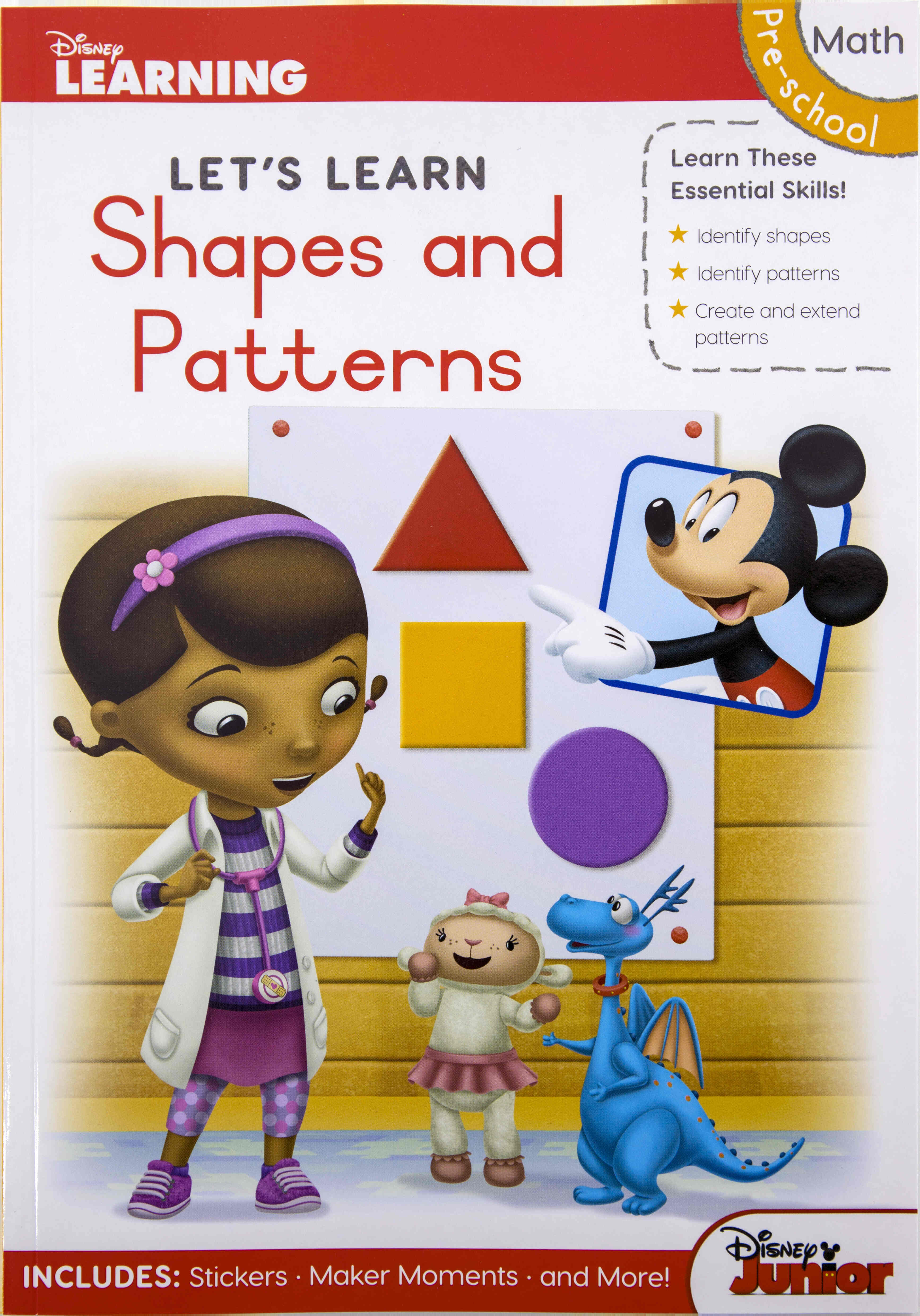 Disney Let's Learn - 80pg Shapes & Patterns