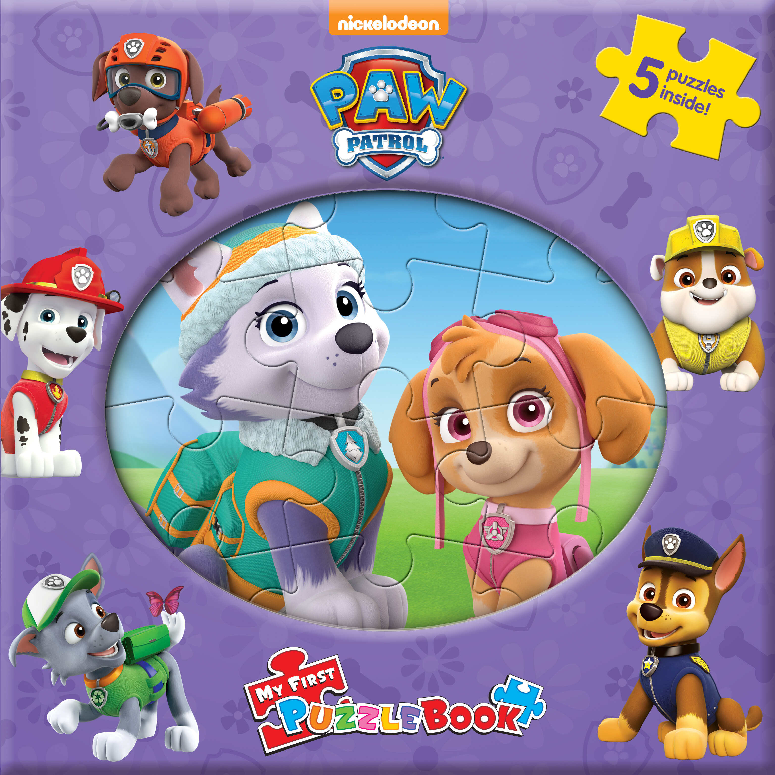 Paw Patrol (Pink) - My First Puzzle Book
