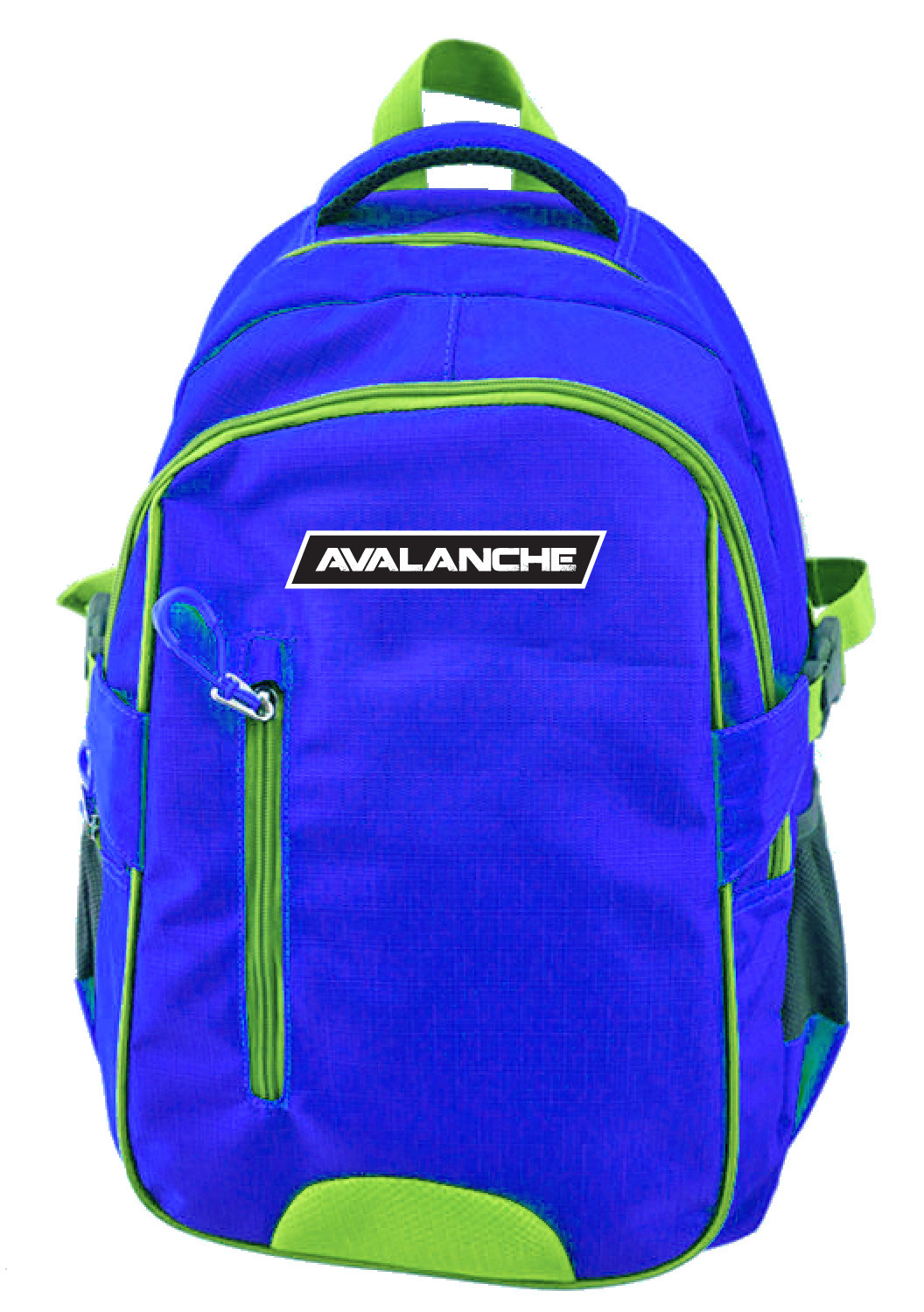Avalanche Standard Student Backpack - Blue-Lime