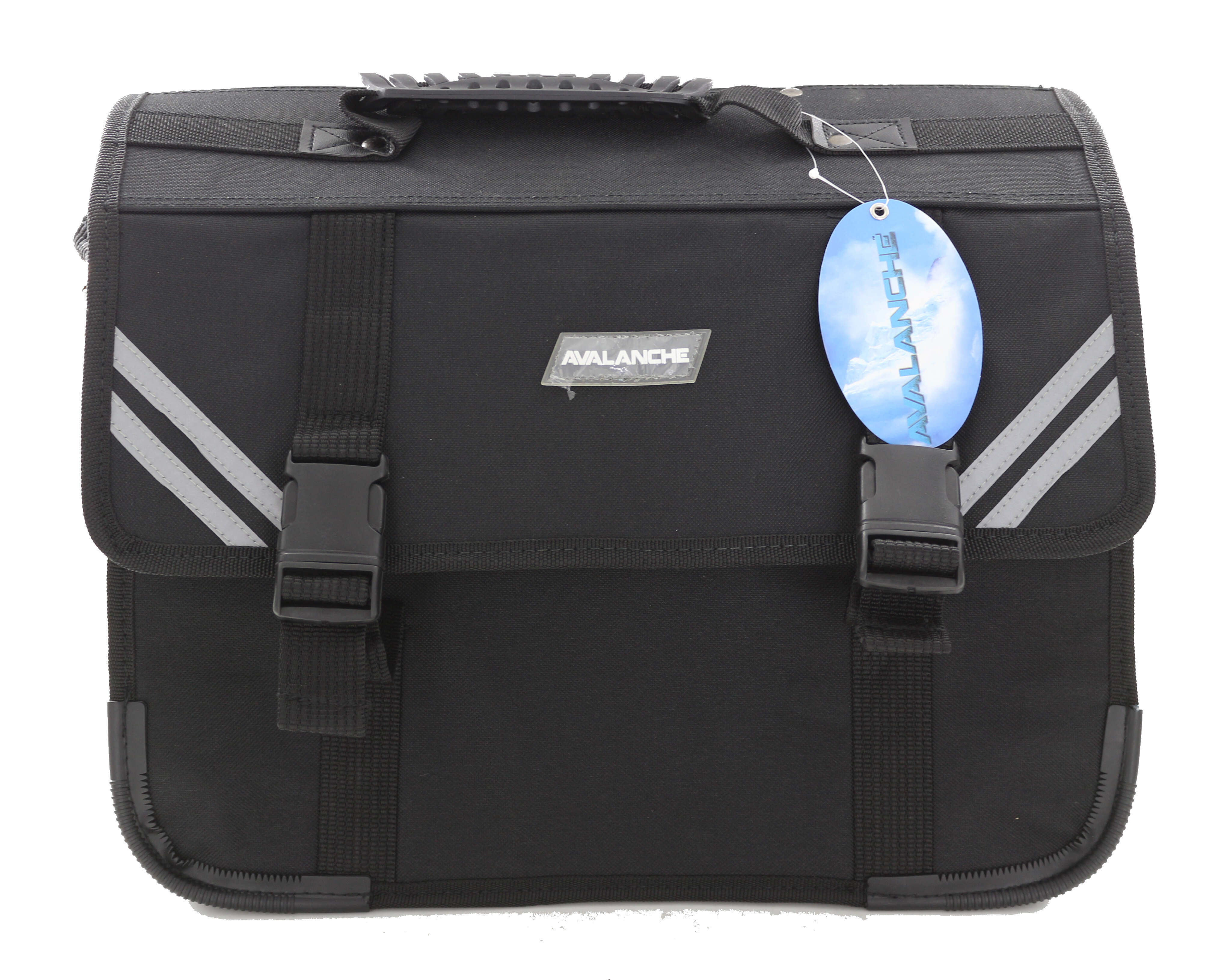 Avalanche Standard Student Suitcase - 7 Compartment - Black